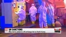 UN adds new items to North Korea sanctions list