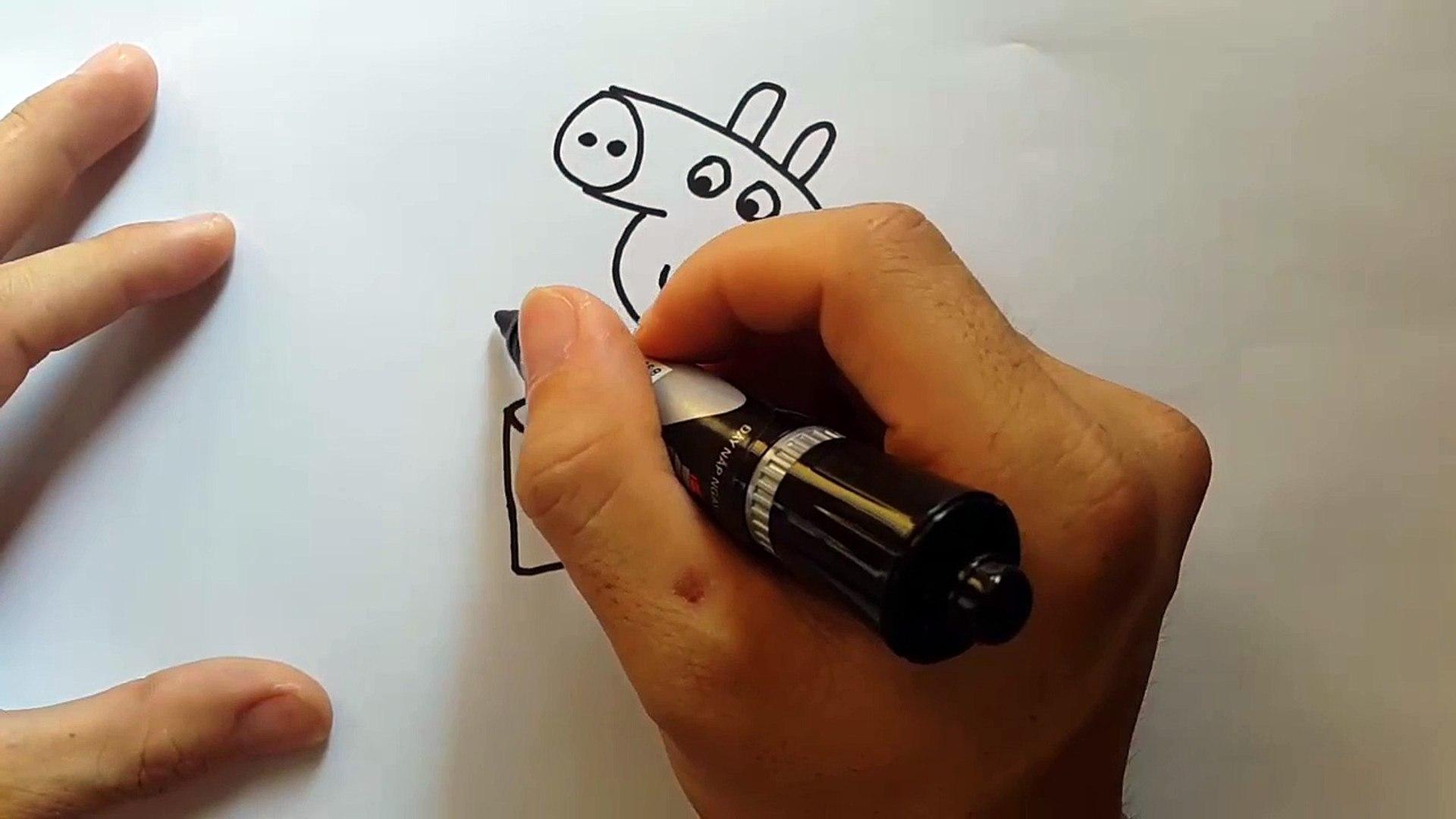 Teaching kids to draw - draw peppa pig   Ep.4