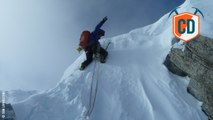 Rare Winter Alpine Ascent On Grandes Jorasses Causes...