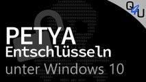 Petya entschlüsseln bei Windows 10 - QSO4YOU Hilft #28 | QSO4YOU Tech