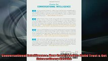 Free PDF Downlaod  Conversational Intelligence How Great Leaders Build Trust  Get Extraordinary Results  FREE BOOOK ONLINE