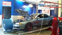 my 1990 skyline gts-t on the dyno at pur automotive