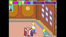 The Simpsons Arcade game - Stage 8 Springfield Nuclear Powerplant - Homer & Bart vs. Mr. Burns & fin