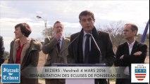 BEZIERS - 2016 - LES TRAVAUX DE REHABILITATION des ECLUSES DE FONSÉRANES sont lancés