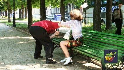 Crazy TV Pranks - Funny Prank Searching Under Skirts