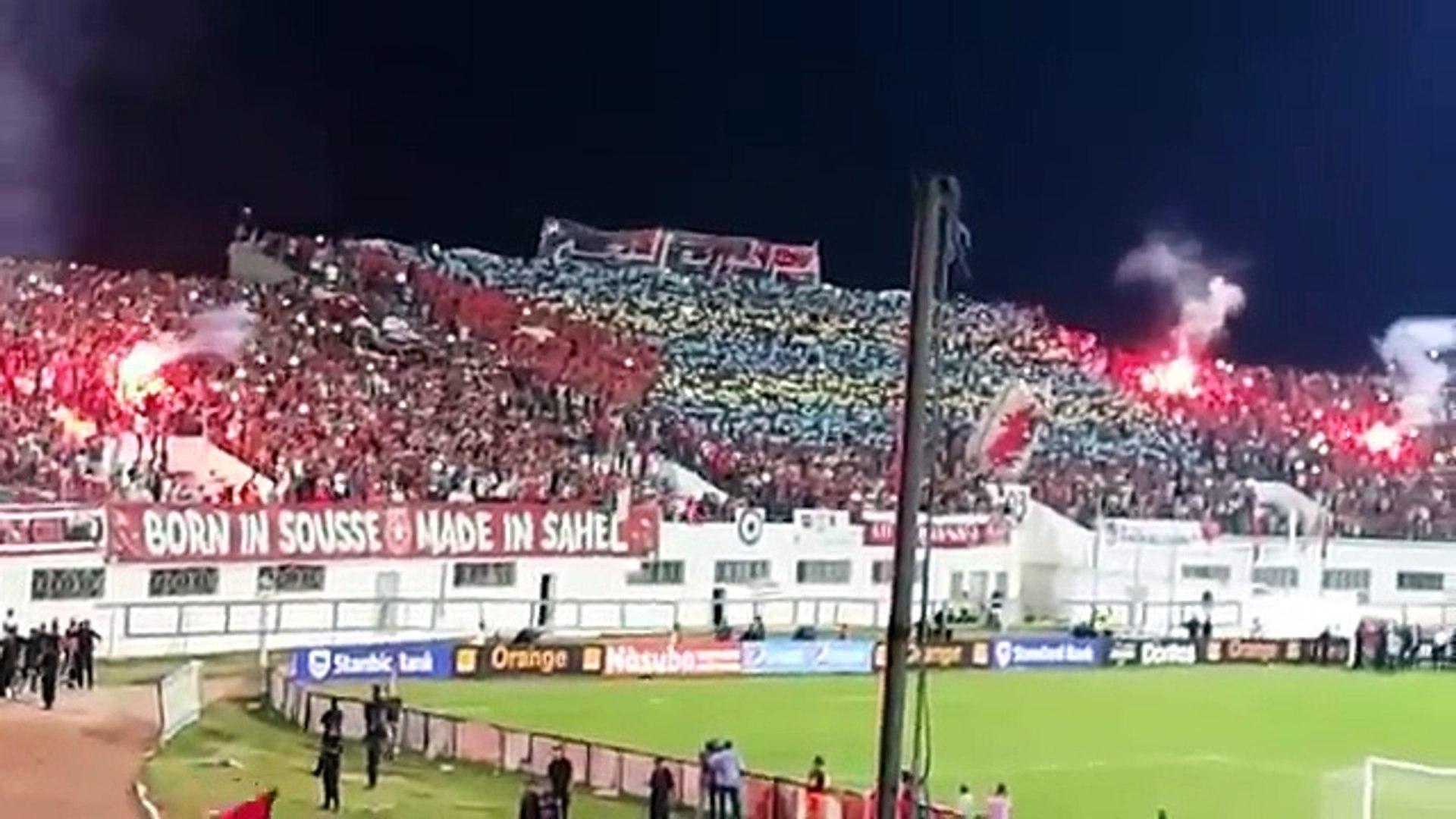 دخلة النجم ضد الزمالك و أجواء رهيبة بملعب سوسة Da5la Ess Vs Zamalek 5 1 Virage Brigade