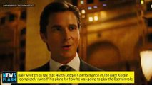 Christian Bale Not Satisfied with Batman