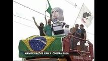 Ação contra Lula gera manifestações contrárias e de apoio ao ex-presidente