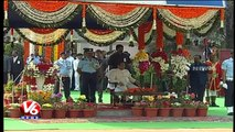 Governor ESL Narasimhan Taking Salute As Police March Past   67th Republic Day Celebrations