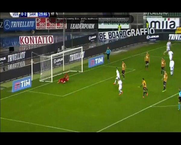 Goal Lazaros Christodoulopoulos - Hellas Verona 0-3 Sampdoria (05.03.2016) Serie A