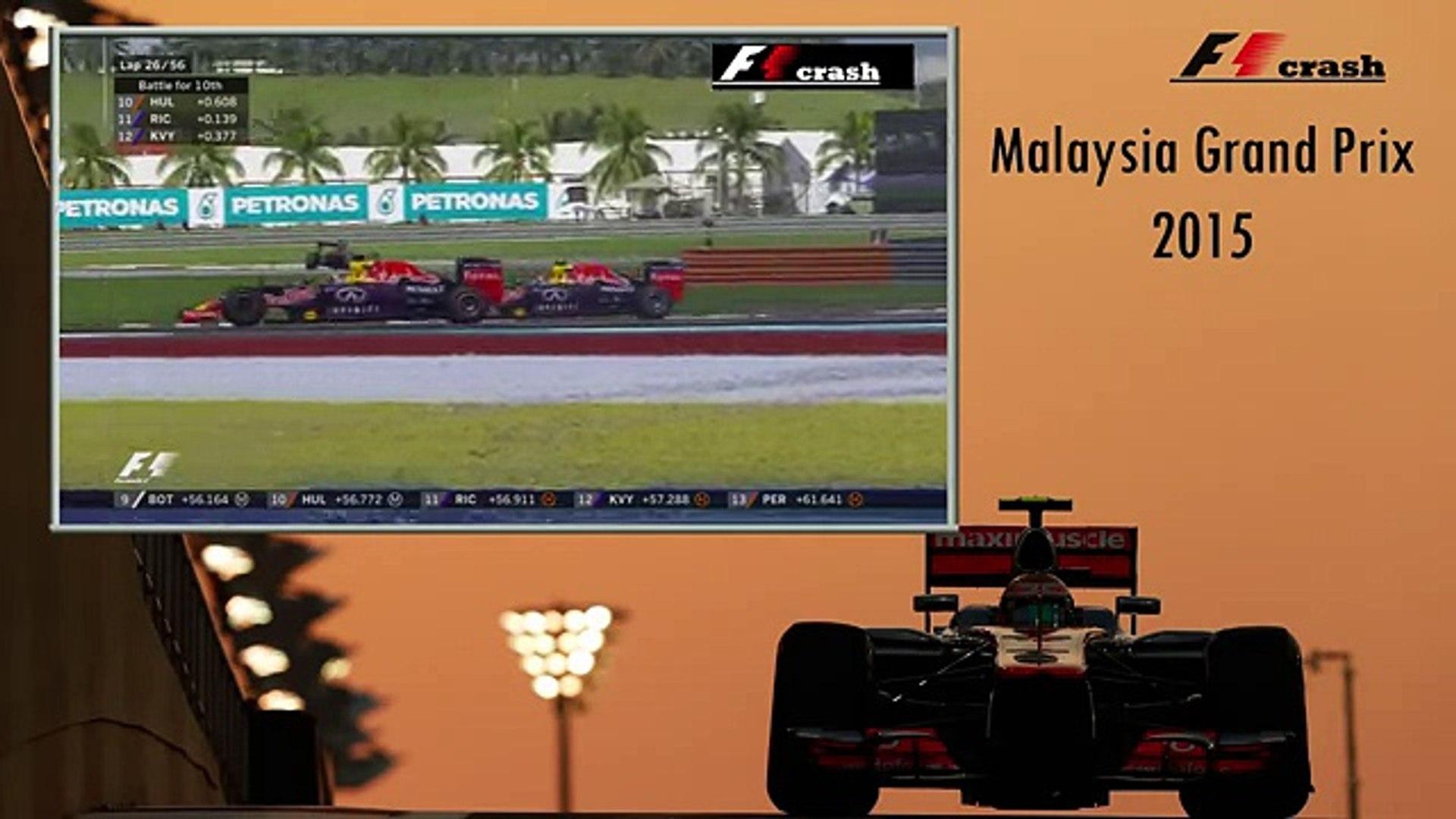 Формула 1 2015, Малайзия, Сепанг, авария, Даннил Квят