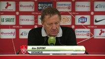 Réaction d'Alex Dupont après Stade Brestois 29 - US Créteil-Lusitanos