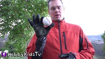 Whats in a Baseball? Science Lab + Surprise Hiding in Sports Ball w/HobbyKidsTV