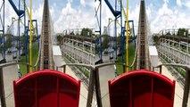White Lightning 3D front seat on-ride HD POV @60fps Fun Spot America, Orlando