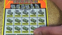 $10 lottery ticket roll scratching. Ticket #10 of 50. $200 million extreme cash