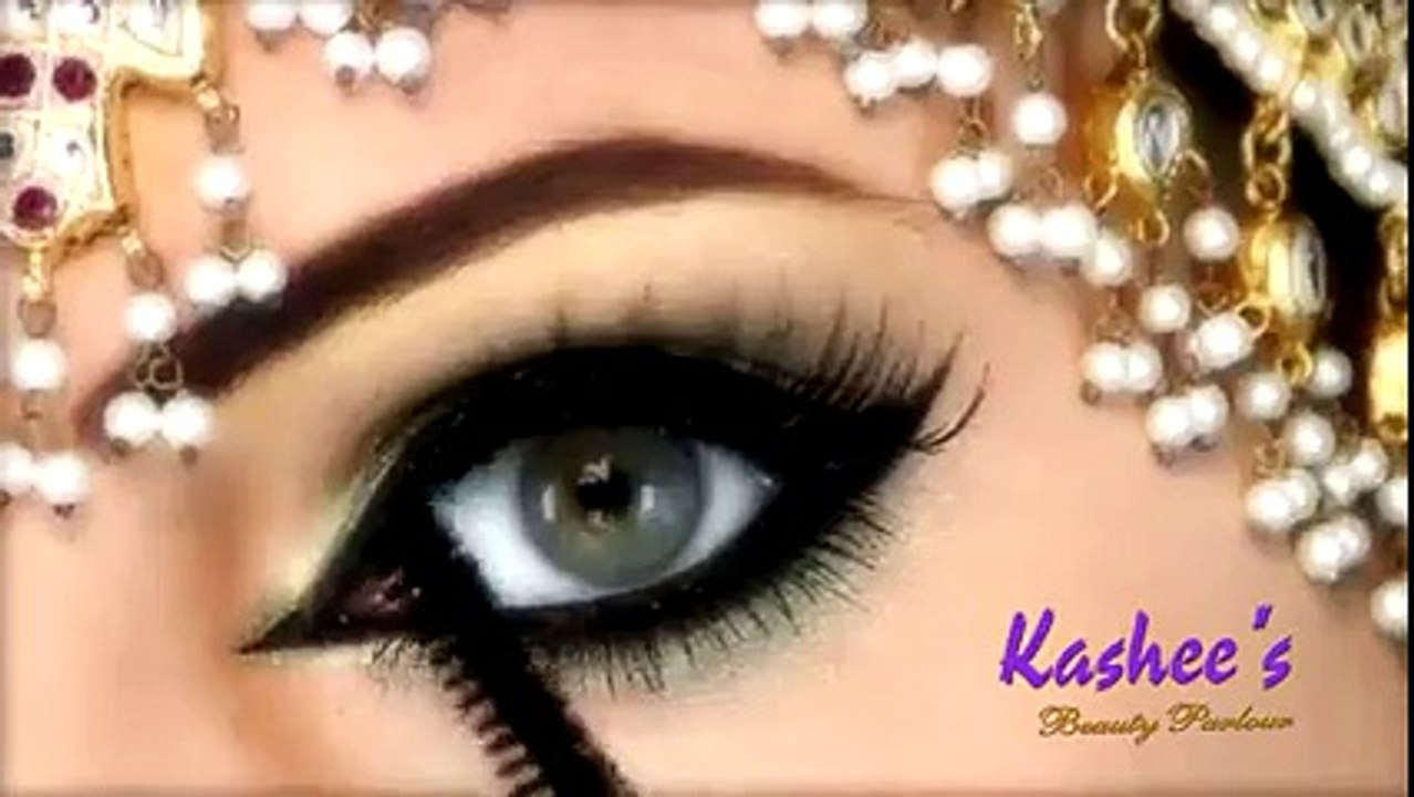 beautiful eye makeup by kashee - pakistani eyes makeup - beautiful party  eyes makeup - most beautiful eye makeup