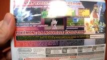 Unboxing Pokemon Y Nintendo 3DS Game Freak Company Pikachu Mega Evolution Mewtwo Stones