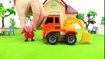 Dessin animé éducatif pour enfants. Français facile. Peppa Pig plante  les arbres avec ses amis  Dessins Animés Pour Enfants