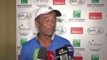 Tennis - Coupe Davis : Noah apprend le cri de guerre aux journalistes