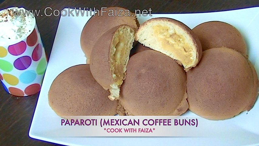 PAPPAROTI (MEXICAN COFFEE BUNS) *COOK WITH FAIZA*