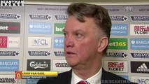 West Brom 1 0 Manchester United Louis van Gaal Post Match Interview Big Blow To Top Four C