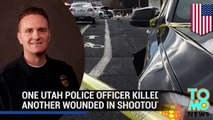 Utah shooting: police officer killed, another wounded in shootout following car crash - TomoNews