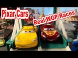 Disney Pixar Cars Races with Neon Racers, Lightning McQueen, and more Cars from Car and Cars2