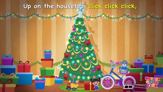 Christmas Song   Up on the Housetop   Mother Goose Club Kid Songs and Nursery Rhymes ...