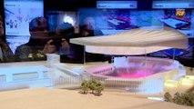 La afición del FC Barcelona conoce el proyecto del Nou Palau