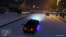 Grand Theft Auto V Online : IT SNOWS | SNOW DRIFTING FUN | WINTER IN GTA 5 | HD