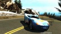 Continue jumping mountains Dinoco McQueen Disney car Eight jumps game GTA 4