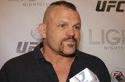 Chuck Liddell media scrum at EA UFC 2 launch in Las Vegas