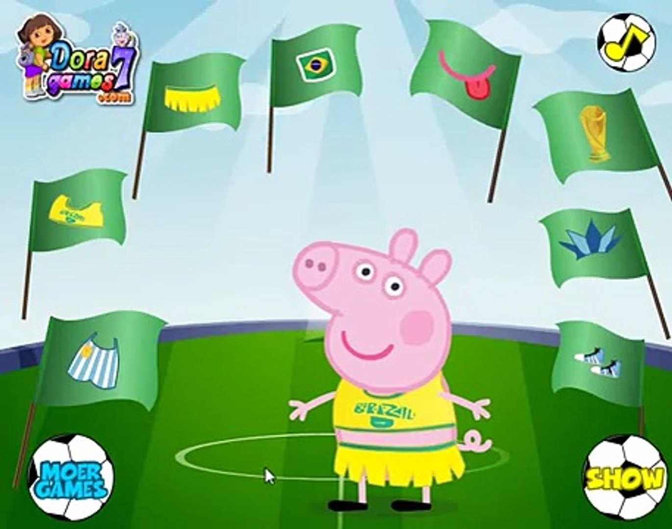 Свинка Пеппа звезда футбола. (Peppa Pig football star)