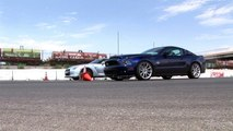 Godzilla Battles Super Snake! Nissan GTR Vs Shelby GT500 Super Snake Drag Race