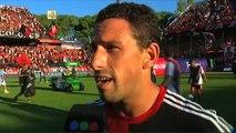 """Maxi: """"Quiero lo mejor para el club"""". Newells 5 - Racing 0. Fecha 3. Primera División 2016."""