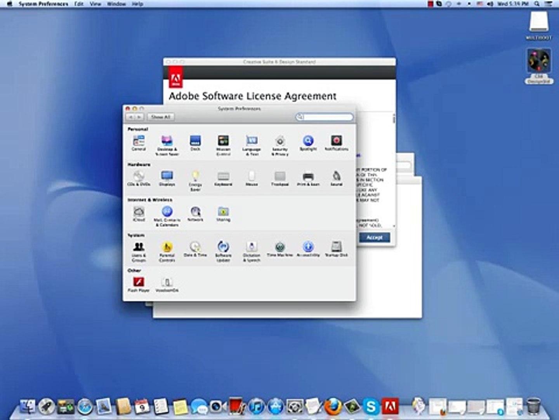شرح طريقة تنصيب Adobe CS6 Design Standard Arabic Enabled - Mac OS X