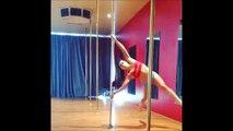 Sexy Girl Practice pole dance (amazing skills,very sexy)