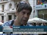 Uruguayos exigen ante embajada de Honduras justicia para Berta Cáceres