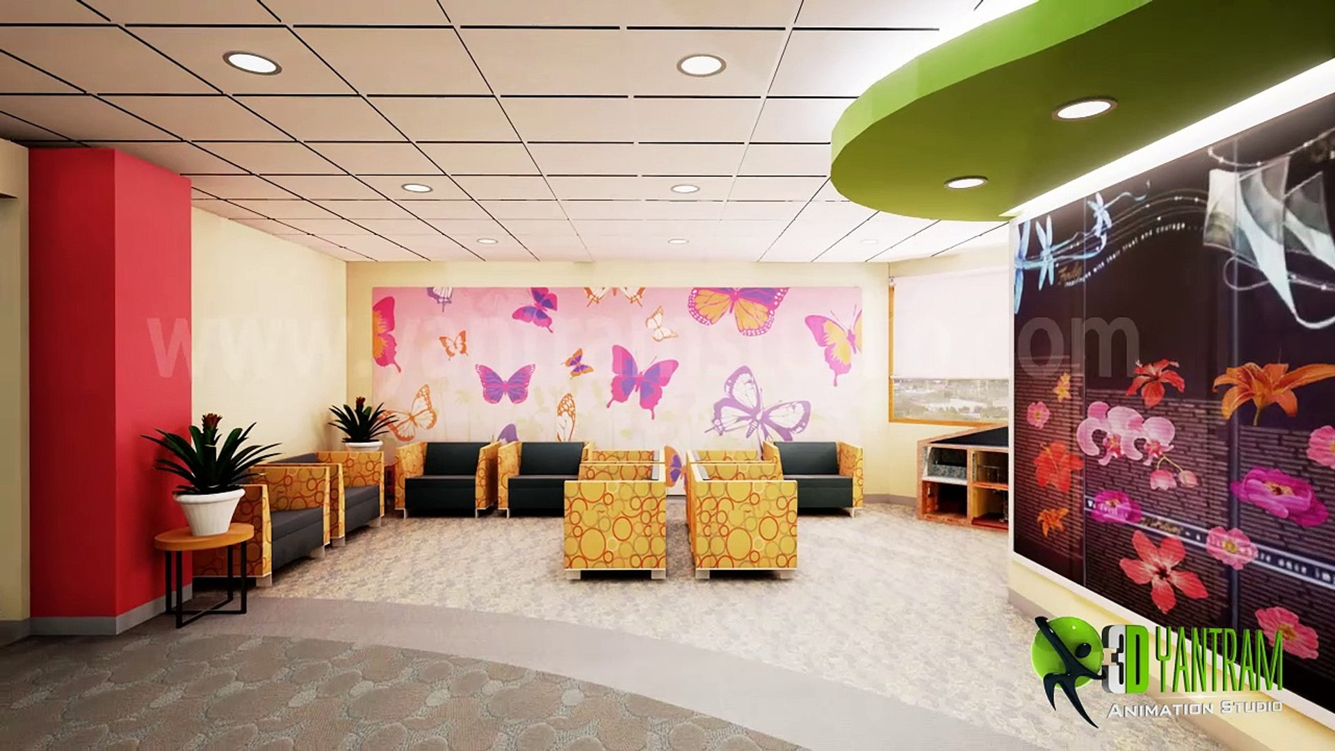 3D Interior Walk-Through Animation of Maternal hospital Interior Design |  Virtual Tour