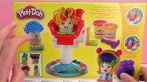 Pâte à modeler Play Doh s'amuser avec des coiffures multicolores Unboxing | Joue avec moi