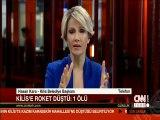 Kilis Belediye Başkanı canlı yayında konuşurken roket düştü