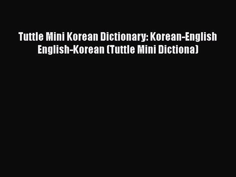Mini Korean Dictionary Korean-English English-Korean