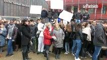 Blocus des lycéens et grève des profs au Lycée Samuel Beckett à la Ferté