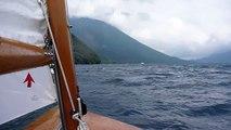 20100731 Wooden dinghy seamaid sailing on Lake Chuzenji
