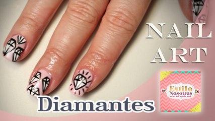 Diamantes, Nail Art by Luli Gugli | ESTILO NOSOTRAS