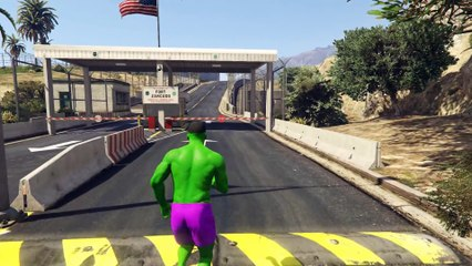 GTA 5 Mods - INCREDIBLE HULK MOD! HULK VS MILITARY BASE! (GTA 5 Mod