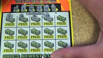 $10 lottery ticket roll scratching. Ticket #11 of 50. $200 million extreme cash