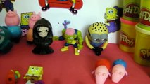 Minions Mickey mouse pay doh peppa pig surprise eggs spongebob trash pack toy