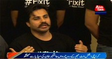 Karachi: Press Conference Of Alamgir Khan Founder Of FixIt Campaign
