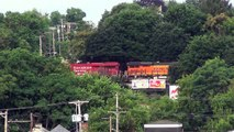 BNSF & Canadian Pacific engines haul CSX Coke Express @ Beaver Falls, PA 6/30/14 00011